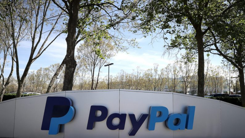 Sede do Paypal em San Jose, Califórnia, em 9 de abril de 2018 (Justin Sullivan / Getty Images)