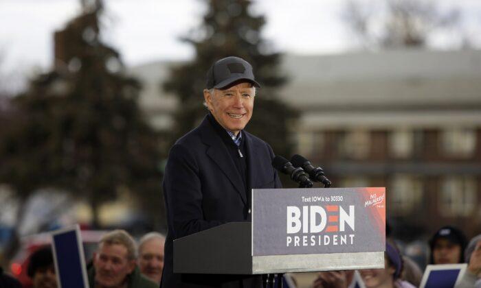 El candidato presidencial demócrata, el exvicepresidente Joe Biden