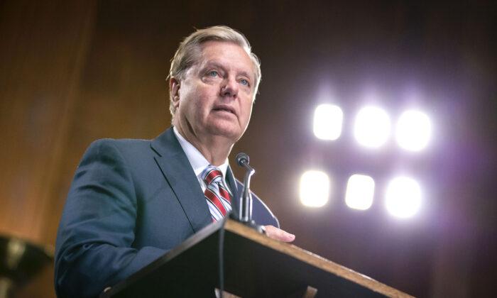 El presidente de la Judicatura del Senado, Lindsey Graham (R-S.C.) en el Capitolio de los Estados Unidos en Washington el 15 de mayo de 2019. (Anna Moneymaker / Getty Images)
