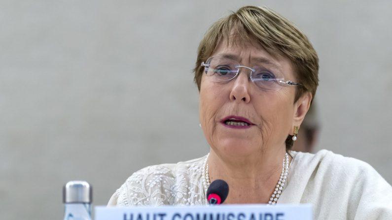 La alta comisionada para los Derechos Humanos de la ONU, Michelle Bachelet. EFE/Martial Trezzini/Archivo