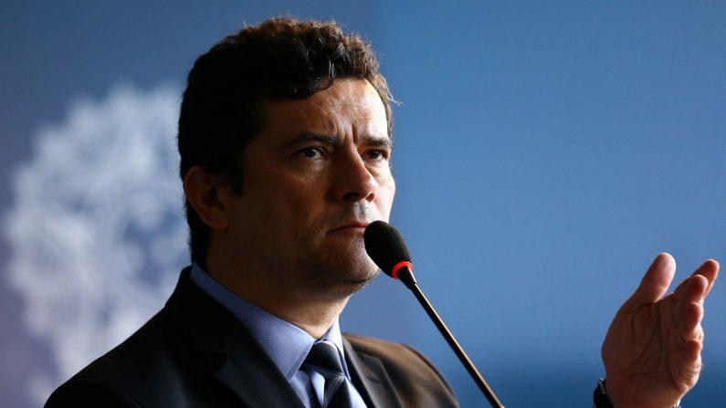 O ministro da Justiça e Segurança Pública, Sergio Moro, participa do Dia Nacional de Combate à Pirataria (Marcelo Camargo/Agência Brasil)