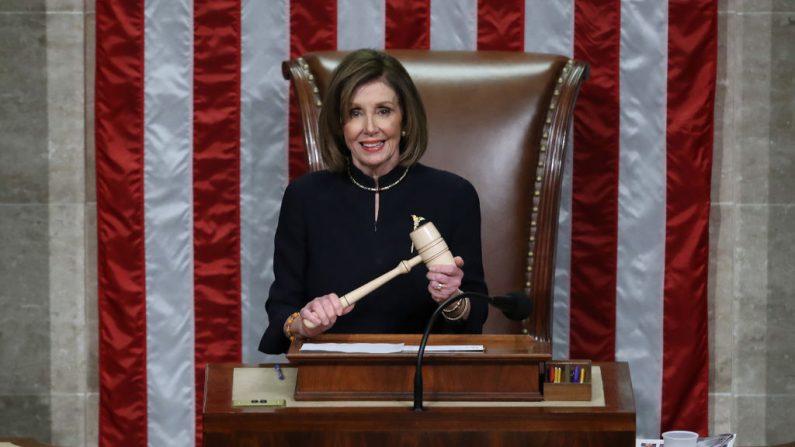 La Cámara de Representantes de Estados Unidos votó para aprobar con éxito dos artículos de impeachment contra el presidente Donald Trump por cargos de abuso de poder y obstrucción del Congreso. (Chip Somodevilla/Getty Images)