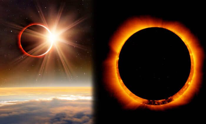 Eclipse solar (I) (Shutterstock); (D) (Getty Images)