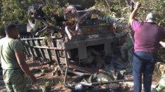 Al menos cinco militares mueren al volcar su vehículo en el sur de México