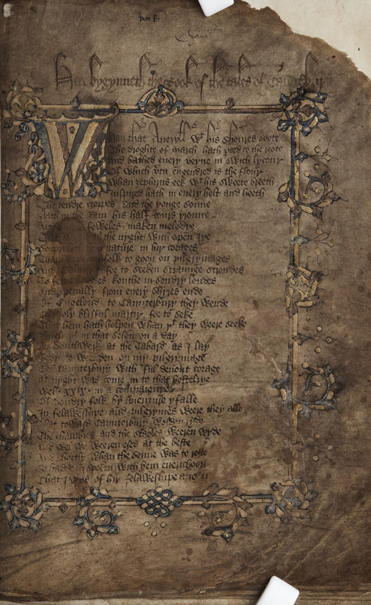 Hengwrt_Chaucer_title_page
