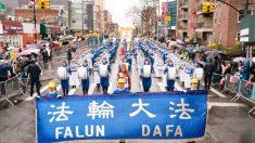 Vecinos de Flushing celebran la presencia de Falun Gong en el desfile del Año Nuevo Lunar