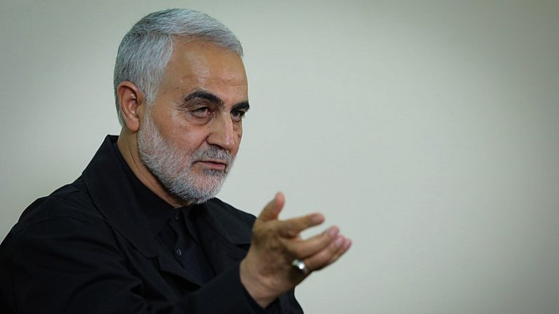 Qassim Soleimani, comandante da Força Quds da organização terrorista da Guarda Revolucionária Islâmica (Foto de Ali Khamenei via [Wikimedia Commons)
