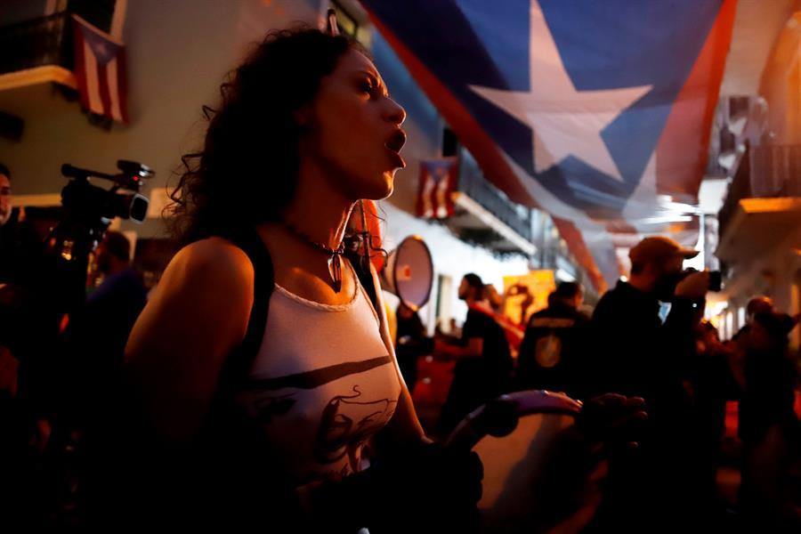 Protestan pacíficamente para pedir la dimisión de la gobernadora de Puerto Rico