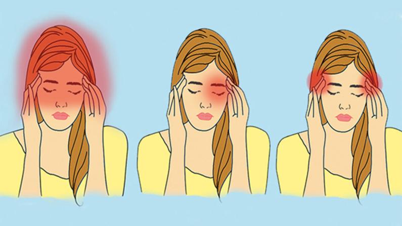 Síntomas de dolor de cabeza en manos frías