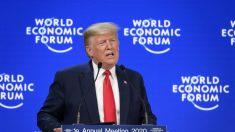 Trump resalta en Davos la economía de EE.UU. y critica a los alarmistas climáticos
