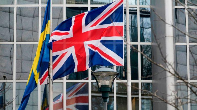 Una imagen tomada el 31 de enero de 2020 frente al Parlamento Europeo en Bruselas (Bégica) el día del Brexit. (KENZO TRIBOUILLARD / AFP / Getty Images)