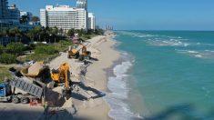 Miami Beach comienza a rellenar sus playas afectadas por la erosión con 61,000 toneladas de arena