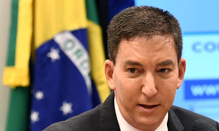 Glenn Greenwald, fundador y editor del sitio web de The Intercept durante una audiencia en la Comisión de Derechos Humanos de la Cámara Baja en Brasilia, Brasil, el 25 de junio de 2019. (Evaristo Sa/AFP a través de Getty Images)