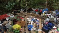 Residentes inconformes por pagar factura de USD 20,000 para limpiar campamento de indigentes