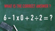 Esse problema de matemática está causando polêmica na Internet, e os internautas dizem que existem duas respostas, mas qual é a correta?