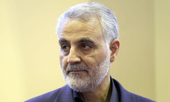 O ex-líder da Força Quds da Guarda Revolucionária Iraniana, general Qassem Soleimani, em uma imagem de arquivo tirada no Teerã em 14 de setembro de 2013 (Mehdi Ghasemi / ISNA / AFP via Getty Images)