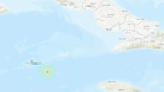 Fuerte réplica de magnitud 6,1 en el Mar Caribe, al este de las Islas Caimán