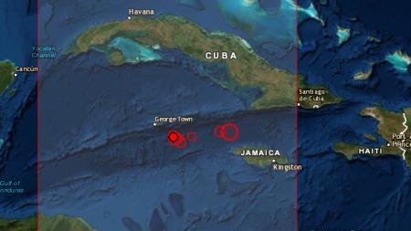 Cientos de réplicas provocan terremoto en las aguas del Caribe cerca de Cuba e Islas Caimán