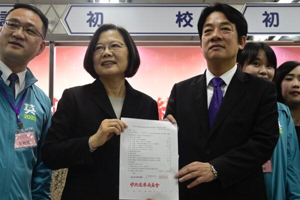 La presidenta de Taiwán, Tsai Ing-wen y el exprimer ministro William Lai