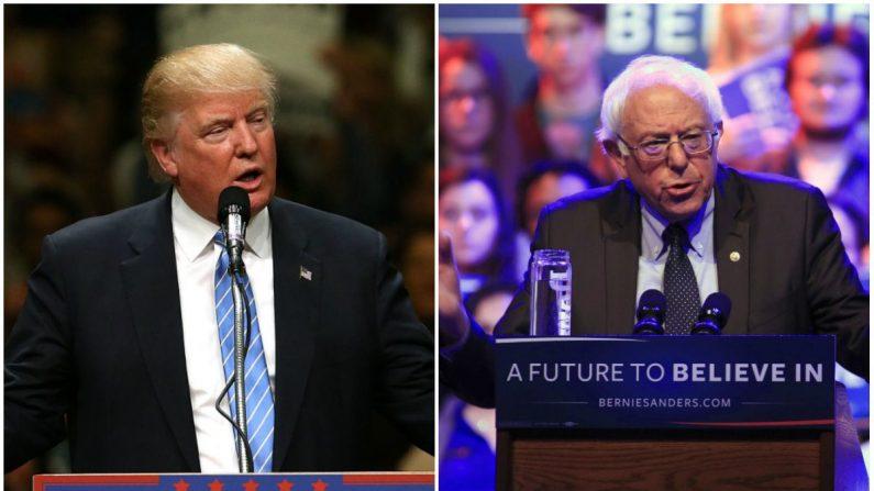 El presidente Trump y el senador Bernie Sanders. (Spencer Platt y Darren Hauck/Getty Images)