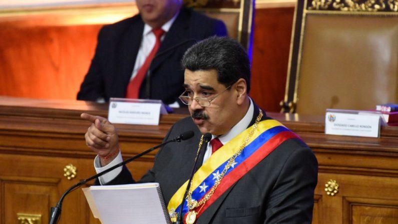 Nicolás Maduro entrega informe anual en la Asamblea Nacional el 14 de enero de 2020 (Créditos: Carolina Cabral/Getty Images)
