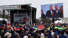"""Trump se convierte en el primer presidente en asistir a un acto de la """"Marcha por la Vida"""""""
