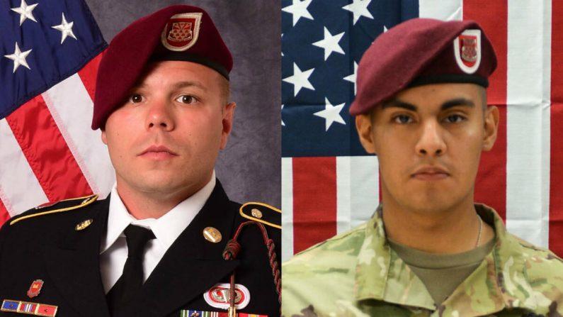 (El sargento Ian P. McLaughlin (izquierda) y el soldado de primera clase Miguel A. Villalon (derecha) /Departamento de Defensa de los Estados Unidos)