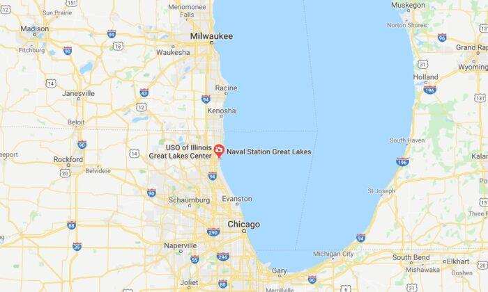 La Estación Naval de los Grandes Lagos confirmó en la mañana del viernes que fue puesta en confinamiento. (Google Maps)