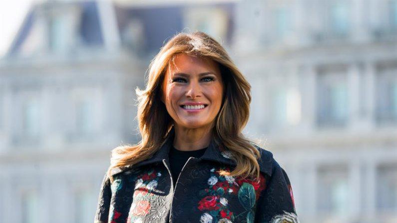 En la imagen, la primera dama de EE.UU., Melania Trump. EFE/Jim Lo Scalzo/Archivo