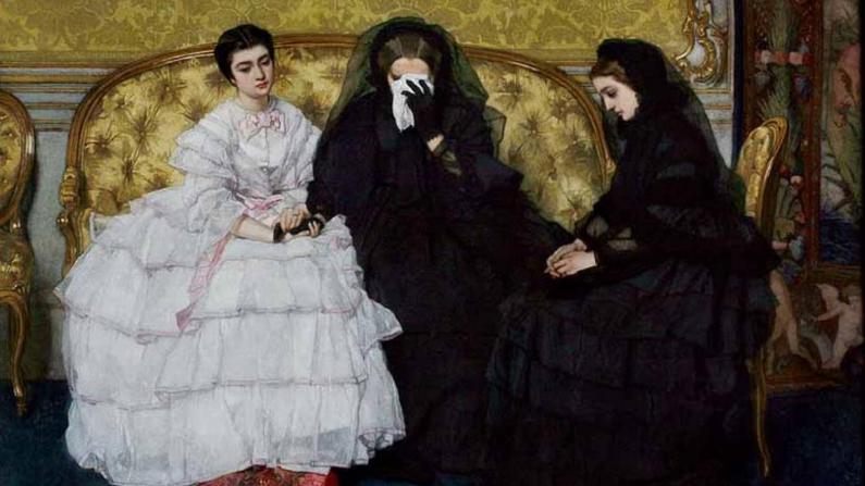 """""""In Memoriam"""", entre 1858 y 1861, por Alfred Stevens. Musée d'Ixelles. (Dominio publico)"""
