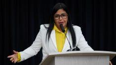 La Asamblea de Venezuela pide investigar el viaje de Delcy Rodríguez a España