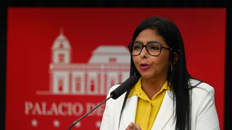 Delcy Rodriguez, la vicepresidente en disputa de Venezuela. (FEDERICO PARRA/AFP via Getty Images)