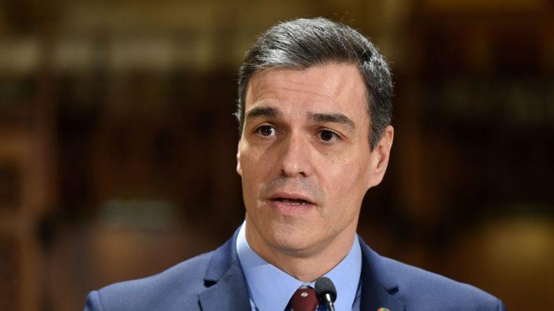 El presidente español, Pedro Sánchez, foto tomada el 7 de febrero de 2020. (JOSEP LAGO / AFP / Getty Images)