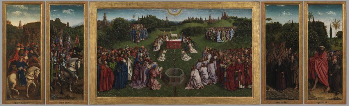 La Adoración del Cordero Místico de los hermanos Van Eyck