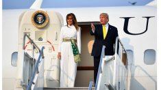 Melania Trump se viste con ropa inspirada en textiles indios de principios del siglo XX