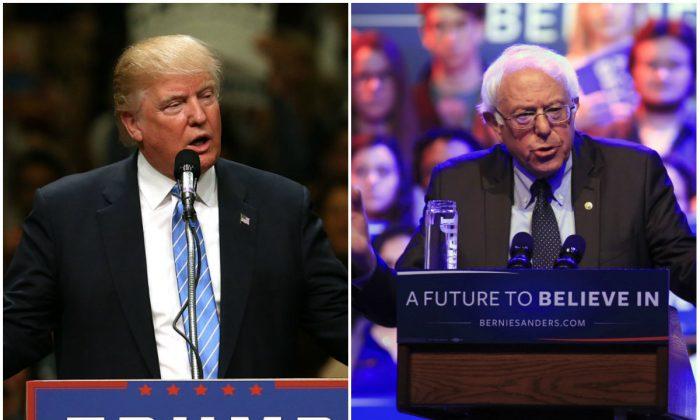 El presidente Donald Trump y el senador Bernie Sanders (I-Vt.) (Spencer Platt y Darren Hauck/Getty Images)