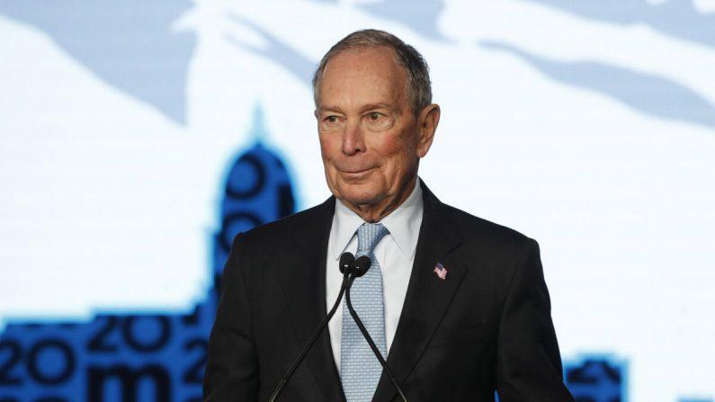 El candidato presidencial demócrata, Mike Bloomberg, habla con sus simpatizantes en un mitin en Salt Lake City, Utah, el 20 de febrero de 2020. (George Frey/Getty Images)
