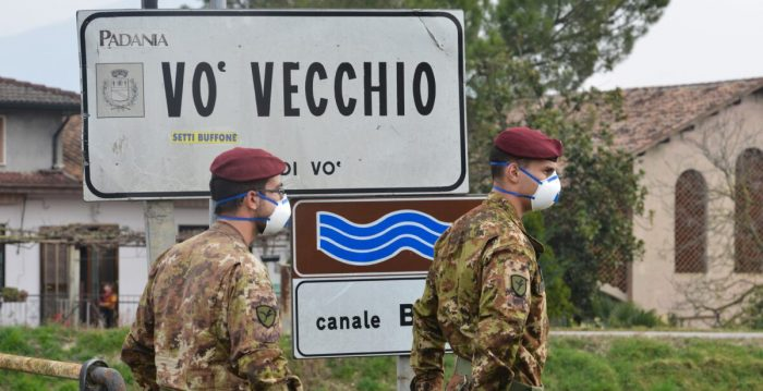 Séptima víctima en Italia por coronavirus y primer infectado en Alto Adigio