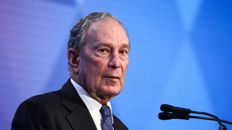 El exalcalde de la ciudad de Nueva York y candidato presidencial para el 2020 Michael Bloomberg durante la Conferencia de Alcaldes de EE.UU. en Washington el 22 de enero de 2020. (Charlotte Cuthbertson/The Epoch Times)