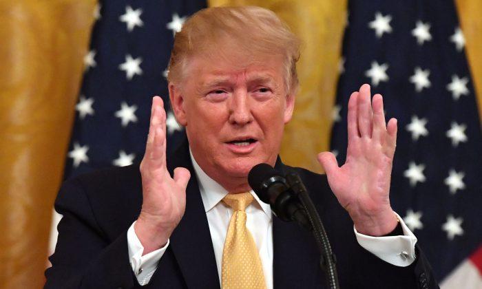 El presidente Donald Trump en la Casa Blanca el 11 de julio de 2019. (Nicholas Kamm/AFP/Getty Images)