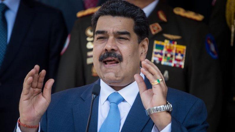 Nicolás Maduro, habla durante una rueda de prensa este jueves, en Caracas (Venezuela). EFE/ Miguel Gutiérrez/Archivo