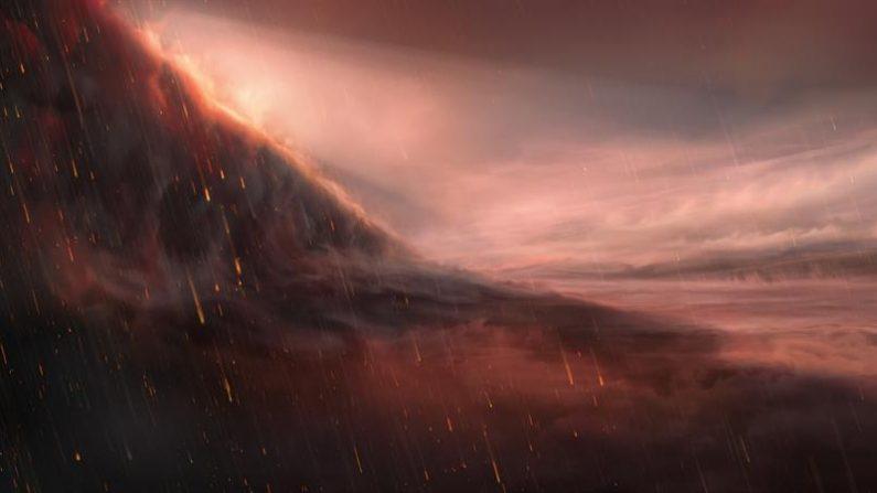 Un equipo de científicos españoles y suizos ha descubierto un exoplaneta gigante con temperaturas diurnas capaces de vaporizar el hierro, y que podría condensar en gotas de lluvia en las regiones nocturnas. EFE