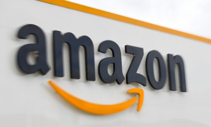 Logotipo del gigante estadounidense de la distribuidora Amazon. (Denis Charlet/AFP/ Getty Images)
