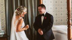 Fotos de joven con síndrome de Down cuando ve a su hermana vestida de novia se vuelven virales