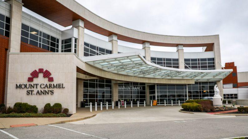 Hospital Mount Carmel St. Ann en Columbus, Ohio, el 23 de marzo de 2020. (Charlotte Cuthbertson/The Epoch Times)