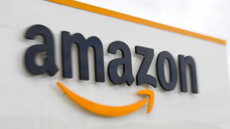 Logotipo del gigante estadounidense de la distribuidora Amazon. (Denis Charlet/AFP/ Getty Images)