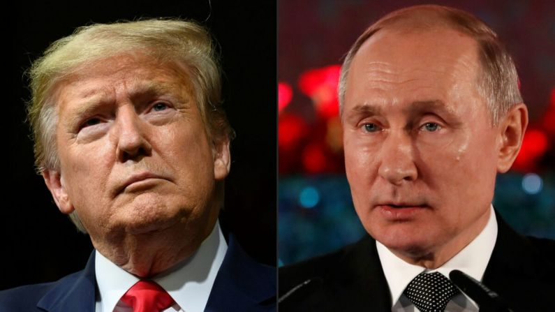 El presidente Donald Trump y el presidente ruso Vladimir Putin. (JIM WATSON y EMMANUEL DUNAND/AFP a través de Getty Images)