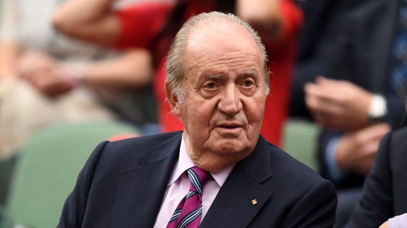 El rey emérito Juan Carlos de España, foto tomada el 15 de julio de 2017 en Londres, Inglaterra. (David Ramos/Getty Images)