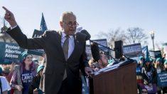Schumer se presenta en un mitin para amenazar a jueces del Tribunal Supremo por el aborto