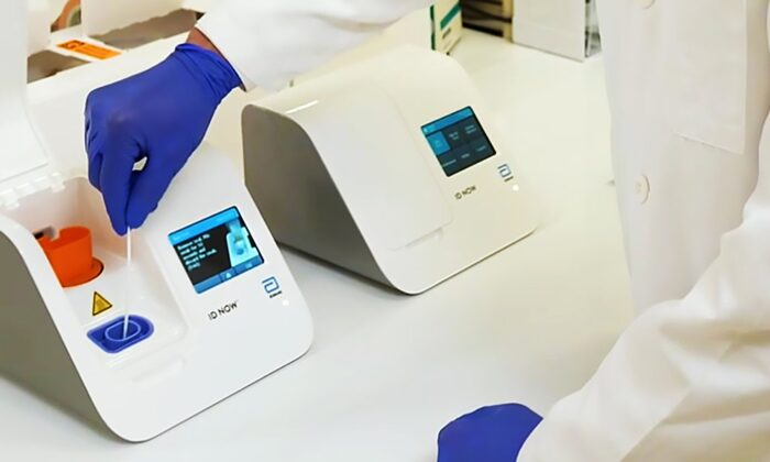 La nueva prueba del virus del PCCh producida por los laboratorios Abbott en una foto de archivo. (Laboratorios Abbott)